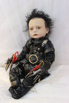 Amazing Edward Scissorhands Johnny Depp Reborn Doll By Orange Grove Nursery