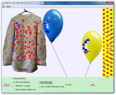 Simulador de electricidad estática. Globos y Electricidad Estática Captura(s) de pantalla