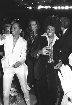 Diana Ross and Micheal Jackson
