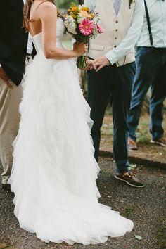ruffled wedding dress, photo by Q Avenue Photo http://ruffledblog.com/travellers-rest-nashville-wedding #brides #bridal #weddingdress