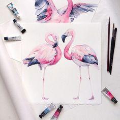 У меня серия с фламинго:) На заметку)фламинго бывают нескольких разновидностей и у них разные пропорции.Это андский фламинго,у них более короткая шея и ноги,чем у привычных нам фламинго)