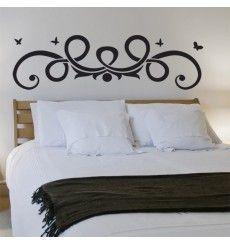 t te de lits stickers muraux d coration arabesque baroque coeur chambre pinterest. Black Bedroom Furniture Sets. Home Design Ideas
