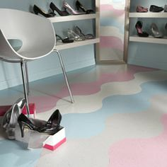 Azrock > Products, love the shapes in the flooring!