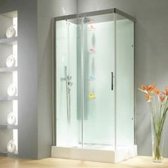 This modern Self Contained Shower Enclosure is stylish and clean and easy to install, no deciding on tiles its all just in a pack ready to install - happy days!
