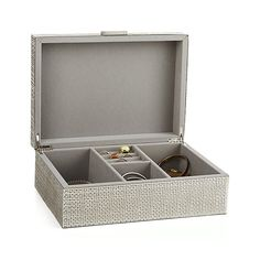 Dory Jewelry Box - Crate and Barrel Cleaning Silver Jewelry, Silver Jewelry Box, Silver Necklaces, Silver Rings, Jewellery Boxes, Jewellery Storage, Unique Home Accessories, Small Sculptures, Crate And Barrel