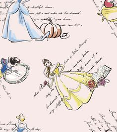 Licensed Cotton Fabric-Fashionable Princess , , hi-res