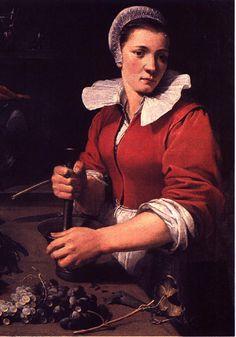 Geschiedenis van de frikandel. Keukenmeid, Frans Snyders (1579-1657), ca 1630.