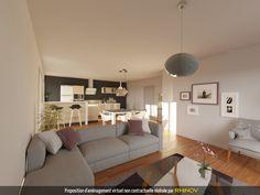 come arredare cucina soggiorno ambiente unico con mobili della ...