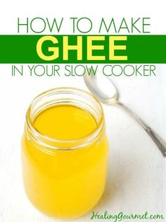 Do you love ghee, but not the big price tag? Learn how to make ghee in your slow cooker in minutes - for about half of what you pay at the store. Paleo Recipes, Crockpot Recipes, Real Food Recipes, Sauce Recipes, Dinner Recipes, Making Ghee, Paleo For Beginners, Slow Cooked Meals, Slow Food