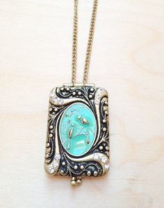 Gold plated necklace with gold locket pendant by FredericaDixon, £12.99