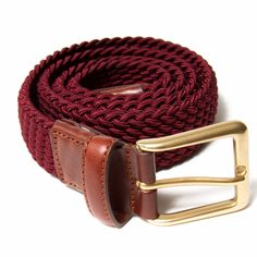 Leyva Classic Woven Belt Burgundy: A classic woven style belt. Leyva was founded in the 1960′s by Antonio Leiva, with the objective of offering a product based on quality, exciting design and diversity. Many years on, and Leyva is now renowned as one of the world's finest belt makers.