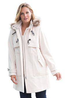 Plus Size Hooded Wool-Blend Coat Winter Coats Women, Coats For Women, Clothes For Women, Plus Size Work, Plus Size Winter, Ladies Of London, Fancy Pants, Plus Size Outfits, Wool Blend