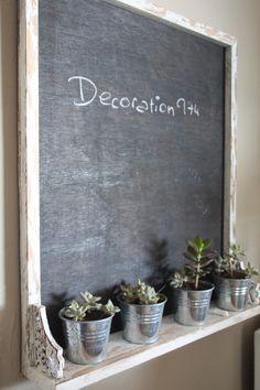 Distressed Blue Gray Chalk Marker Board 20x24, Kitchen Menu ...