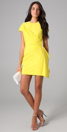 Diane Von Furstenberg Alba Two Mini Dress thestylecure.com