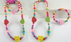 Set 18 A set of necklace and bracelet  Made from wood..  From China   RM12 per set  PRE ORDER now..