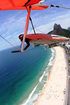 Flying in Rio de Janeiro, Brazil