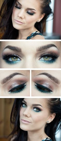 Bronze smokey eye with a pop of blue under eye make up by Linda Hallberg All Things Beauty, Beauty Make Up, Raw Beauty, Pretty Makeup, Makeup Looks, Amazing Makeup, Mascara Hacks, House Of Lashes, Linda Hallberg