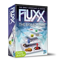 Fluxx: The Board Game lives up to its card game namesake as this board game is all about change: changing rules, changing goals, and changing tiles on the board.