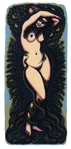 """tenebrum: """" John Petts, coloured wood-engraving from the book Against Women, published by The Golden Cockerel Press, 1953 """""""