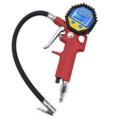 MICTUNING Portable Tire Inflator, Digital Tire Pressure Gauge with Lock-On Air Chuck - 150PSI, 10BAR, 1000KPA, 10KG/CM2. For product info go to:  https://www.caraccessoriesonlinemarket.com/mictuning-portable-tire-inflator-digital-tire-pressure-gauge-with-lock-on-air-chuck-150psi-10bar-1000kpa-10kgcm2/