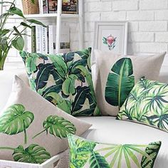 Nothing puts us in the mood for summer quite like a splash of tropical style. Check out our leafy printed pillow cases! 🌿   Turtle Leaf
