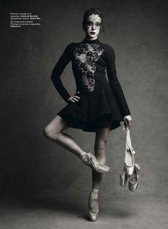 Bold Ballerina Editorials - Diana Vishneva Strikes a Pose for Vogue