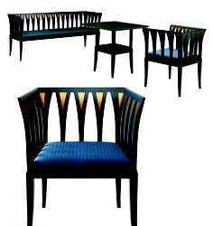 Resultado de imagen para eliel and eero saarinen furniture photos Blue Furniture, Art Deco Furniture, Outdoor Chairs, Dining Chairs, Wooden Chairs, Scandinavian Modern, Midcentury Modern, Contemporary Design, Beautiful Homes