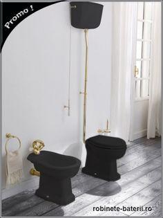 Vas wc Impero negru cu accesorii aur Chloe, Vase, Fashion, Moda, Fashion Styles, Vases, Fashion Illustrations, Jars