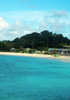 Great Beach in Antigua and great Aqua-Cycle™ Water Tricycles as well.  www.Aquatic-Adventures.com
