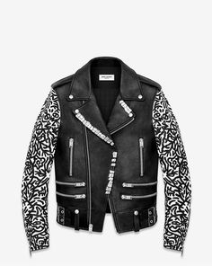 The Saint Laurent x Sumi Ink Club Motorcycle Jacket is Youthful #collaboration trendhunter.com