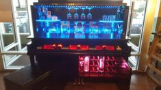 Piano Bar with LED lights with controller and piano by rePOURposed