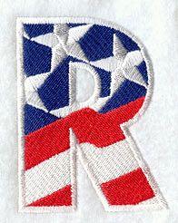 Patriotic Letter R