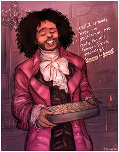 "I'm imagining Hamilton saying ""You can't say macaroni and cheese in French just to make it sound fancier. Hamilton Musical, Alexander Hamilton, Fandoms, Hamilton Comics, Overwatch, Daveed Diggs, Hamilton Lin Manuel Miranda, John Laurens, Hamilton Fanart"