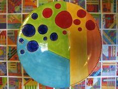 Wow, une combinaison des techniques de lignes parfaites et de points parfaits sur une pièce aux couleurs éclatantes!