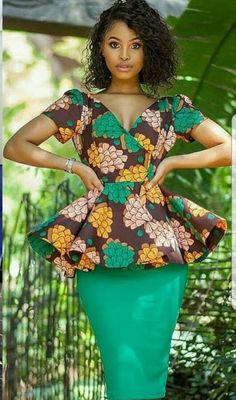 Classy picture collection of Beautiful Ankara Skirt And Blouse Styles These are the most beautiful ankara skirt and blouse trending at the moment. If you must rock anything ankara skirt and blouse styles and design. African Inspired Fashion, Latest African Fashion Dresses, African Dresses For Women, African Print Dresses, African Fashion Ankara, African Print Fashion, African Attire, African Women, Ghanaian Fashion