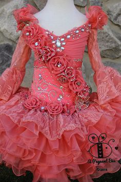 Beautiful Pageant glitz cupcake pageant dress