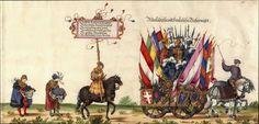 Albrecht Altdorfer (c. 1480 -1538), Hans Burgkmair (1473-1531), Albrecht Dürer (1471-1528) & others — Triumphal Procession, 1517 (1440x691)