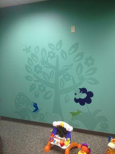 Tasteful mural for kids room