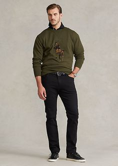 Camo Big Pony Double-Knit Sweatshirt Winter Fashion Casual, Casual Winter, Winter Style, Letterman Patches, Double Knitting, Camo, Pony, Bomber Jacket, Ralph Lauren