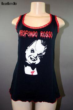 Profondo Rosso Deep Red Horror Slouch Slub Tank Top by KillerKitty, $50.00