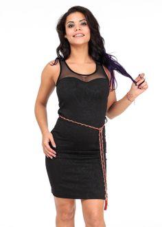Cute Dresses-Fashion Mesh Dress-Black bodycon dress #modaxpress #dresses #fashion