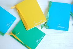 DIY Notebooks for kids. These blank books make great favors for kids at a wedding and gives them something to do! Cost: Less than 1.50 each.