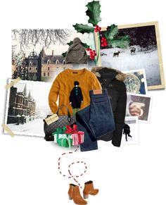 """""""Walk out to winter."""" by reblou ❤ liked on Polyvore"""
