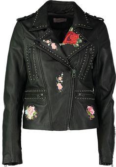 Zwarte lederen jas ibana online bij Deleye.be & BeKult black