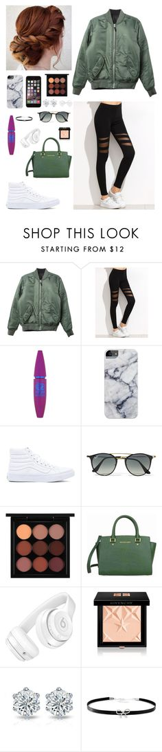 """""""White 🌿"""" by leslienuno ❤ liked on Polyvore featuring beauty, HUF, Maybelline, Vans, Ray-Ban, MAC Cosmetics, Michael Kors, Beats by Dr. Dre, Givenchy and Giani Bernini"""