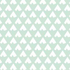 MintTeepee fabric by mrshervi on Spoonflower - custom fabric