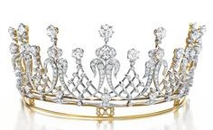 """The Mike Todd Diamond Tiara. An Antique Diamond Tiara, circa 1880 Gift from Mike Todd, 1957. He presented her (Liz Taylor) with this antique diamond tiara, saying, """"You are my queen."""""""