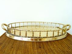 Faux Bamboo Brass Tray | Twin Interiors