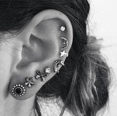 I love multiple ear piercings, they're amazing.