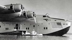 Pan American's Boeing 314 Clipper at Pearl Harbor around 1940.